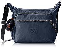 Kipling Women's Gabbie Cross-Body Bag, Blue (42W Alaskan Blue), 35.5 X 30 cmX18.5CM (B x H x T)