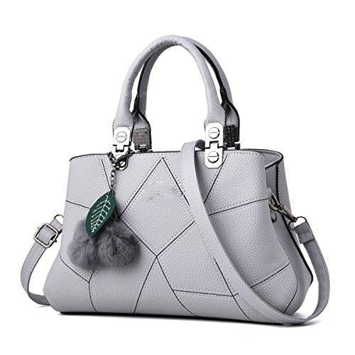 Frauen-Art- Und Weisetote-Schulter-Beutel-Dame-großer Entwerfer-Faux-Leder-neuer Handtaschen-Damen-Art- Und Weisegroßer Hobo-Beutel Gray