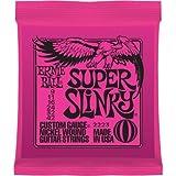 Ernie Ball P02223 Electric Guitar String Set, Super Slinky Nickel Wound, 0.009 - 0.042 Guage