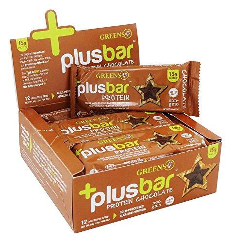 Green Plus, Erdnussbutter und Schokolade, Protein Riegel, 12 Bars (59 g pro Stück) (Protein Plus Erdnussbutter)