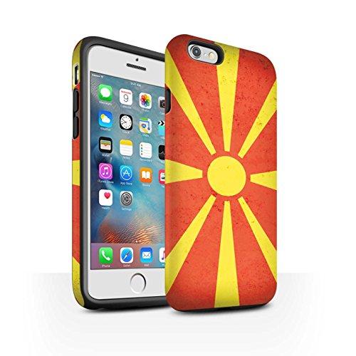 Coque Matte Robuste Antichoc de STUFF4 / Coque pour Apple iPhone 6 / Danemark/Danois Design / Drapeau Europe Collection Macédoine/Macédonien