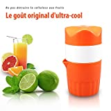 Presse-agrumes Manuel Portable,Oummit Extracteur de jus Pour Oranges et citron Presse-fruits Mini À Main,Retour à l'origine et Profitez du plaisir de presse fruits manuel,Parfait pour les enfants.