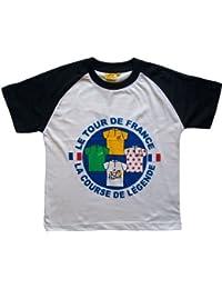 T-shirt Tour de France - La France en maillot Jaune vert Blanc et à pois - Collection officielle - Cyclisme - Tee shirt enfant