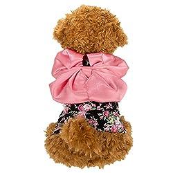 cuecuepet Dress Skirt Apparel Costume Black Pink Princess Dog Cat Puppy