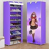 Indoor Schuhschrank 9-Tier Schuhschrank Schrank Schuhe Aufbewahrungskoffer Portable Boot Organizer mit Staubdicht vlies Abdeckung Schuhturm