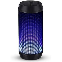 Enceinte Bluetooth Portable Haut-Parleur Bluetooth sans Fil avec LED Lumière Radio FM Fonction TF Carte TEL MUBYTREE