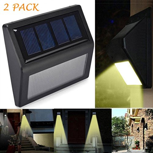 Solar Light Outdoor Motion (✽ZEZKT-Home✽2pcs Solar Led Outdoor Solar Motion Lights Waterproof for Garden,Fence,Pathway,Patio,Yard,Walkway,Driveway,Stairs, Outside Wall Leuchte Garten Lampe Bewegungs Licht (Schwarz))