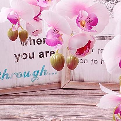 Famibay – Orquídea Artificial con Forma de Flor de phalaenopsis