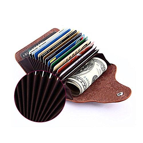 LZHA Credit Card Wallets, Genuine Leather Wallet Small Credit Wallet Women Small Wallets