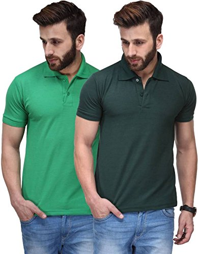 Tshirts for Man Combo Pack of 2 Black-Blue