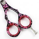 Unicorn Plus Scissors - Professionelle Haarschneideschere 4,5 Zoll Frisuren Pink & Black Blume Salon Schere Schere Schnurrbart Scheren + Schuber Bild 7