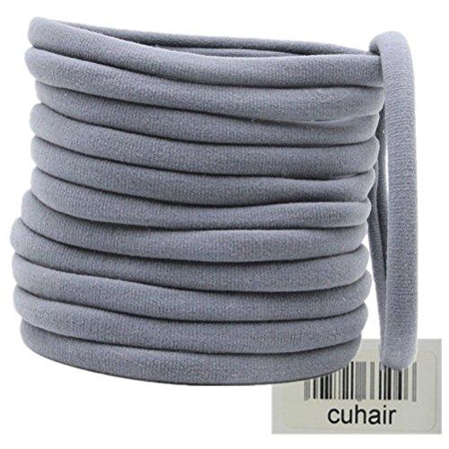 Cuhair 50 pièces pour femme Cheveux Cravate Queue de cheval Queue de cheval Cheveux Bande Cheveux Corde Cheveux en caoutchouc Accessoires Cheveux
