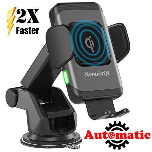 NeotrixQI Wireless Charger Auto Handyhalterung, Kabelloses Induktions Kfz Ladegerät Autohalterung für iPhone XS Max XR X 8 Plus, Induktive Ladestation Auto Lüftung Halter für Samsung Galaxy S9 S8