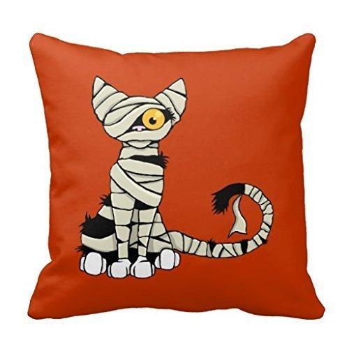Louisa Maxine Halloween Mummy Cat Reversible Pillow Cover 18