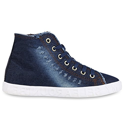 Japado , Sneakers Basses femme bleu foncé