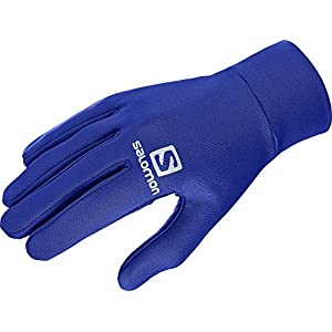 Salomon Unisex Leichte Lauf-Handschuhe, Touchscreen kompatibel, Agile Glove U, schwarz