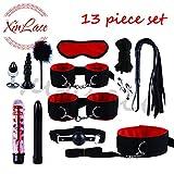 Bella e divertente alternativa nera in nylon nuovo set da 13 pezzi (rosso)
