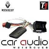 T1Audio adaptateur d'interface de commande au volant avec patch de plomb gratuit pour T1-RN6Renault Clio, Renault Megane, Renault Scenic, Renault Wind, Renault Fluence