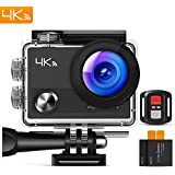 "APEMAN Action Camera 4K Wi-Fi Waterproof Underwater Camera Ultra Full HD Sport Cam 30M Diving With 2"" LCD 170Wide-angle/2.4G Remote Control/2 Rechargeable Batteries/20 Accessories Kits"