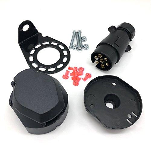 Prise de remorque à trou rond - connecteur de remorque à 7 trous- connecteur de remorque de camion - de Winomo