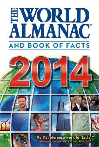 THE WORLD ALMANAC AND BOOK OF FACTS 2014 BY JANSSEN, SARAH (AUTHOR) HARDCOVER (2013 )