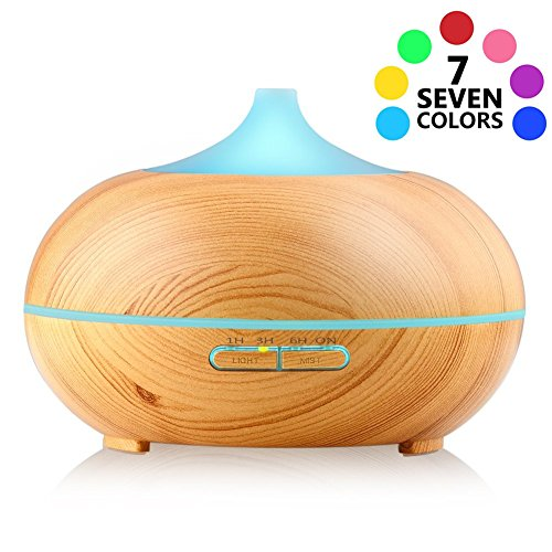 three-t-300ml-wood-grain-essential-oil-diffuser-7-color-changing-led-lights-waterless-auto-shut-off