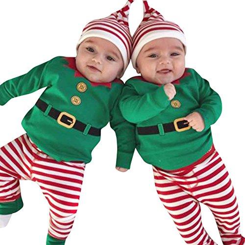 Babykleidung Piebo Baby Jungen Mädchen Weihnachten Strampler Langarm -