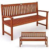Gartenbank Maxima 3-Sitzer  FSC-zertifiziertes Eukalyptusholz  In- & Outdoor  Robust - Holzbank Sitzbank Parkbank Bank