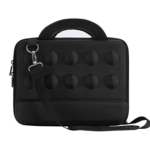 iCozzier 11,6-12,5 Zoll hochwertige wasserdichte stoßfeste Tragetasche Schultertasche Laptoptasche aus Neopren für Laptop / Notebook Computer / Chromebook / MacBook Air 11 / Surface Pro 3 / Surface Pro 4 / Ultrabook Notebook - Schwarz