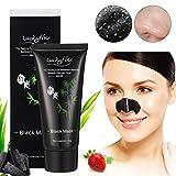 Blackhead Peel Off Mask LuckyFine Bamboo Charcoal Blackhead Removal Facial Deep Cleansing Mask - LuckyFine - amazon.co.uk