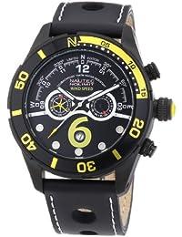 Nautec No Limit Herren-Armbanduhr XL Silverstone Chronograph Quarz Leder SV QZ/LTIPBK