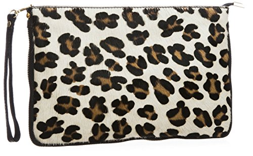 Big Handbag Shop, Borsetta da polso donna One Leopard Big - White