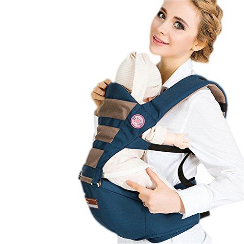 WANGXN Baby Carrier Multifunktionale Sommer Atmungsaktive Babyschale Sicherheit Und Bequemen Sitz,Blue