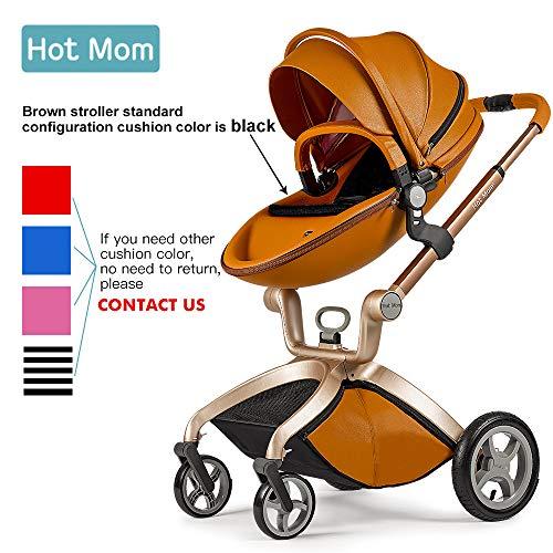 Hot Mom Kombikinderwagen mit Buggyaufsatz und Babywanne 2017, eine Baby Autoschale ist separate erhältlich - Braun