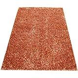 Orientteppich Schaggy handgeknüpft Langflor ca. 225x160 Rot / Gold ETFA