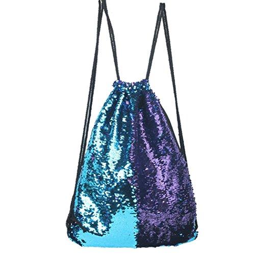 Hunpta Mode im freien Rosen Casual Double Color Pailletten Unisex Brust Sporttasche B
