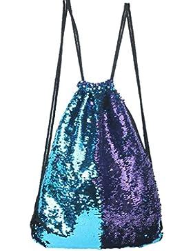 Hunpta Mode im freien Rosen Casual Double Color Pailletten Unisex Brust Sporttasche