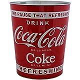 Retro Coca Cola Waste Dust Bin Red Classic Design Genuine Official Coke