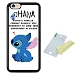 Coque silicone BUMPER souple IPHONE 6/6s -Lilo stitch ohana signifie famille motif 1 DESIGN case+ Film de protection OFFERT