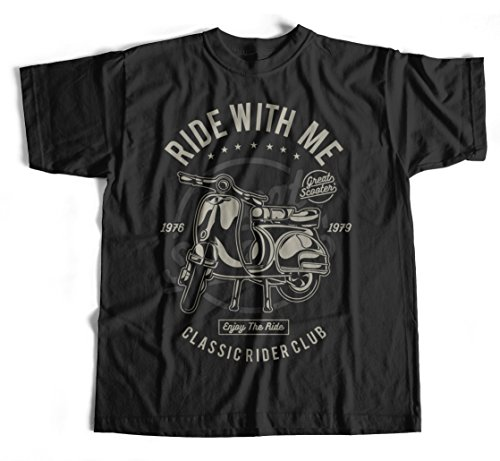 T-Shirt Ride With Me S-4XL Roller Wespa Osten Kult DDR Motorroller