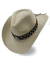 Amazon.es  sombrero paja - Sombreros de cowboy   Sombreros y gorras ... 5d88db4df6fd