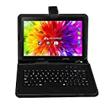 ACEPAD A121 (10.1') 3G Tablet PC, 2GB RAM, 64GB Speicher, Dual-SIM, Android 7.0, IPS HD 1280x800, Quad Core CPU, WIFI/WLAN/Bluetooth, USB/SD (Alu-Schwarz mit Tastaturtasche)