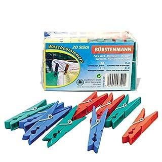 Bürstenmann Clothes Pegs, Multi-Colour, 4.5 x 13.5 x 9 cm