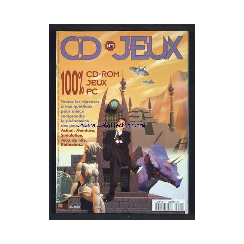 CD JEUX [No 1] du 01/12/1995 - 100 POUR 100 CD-ROM JEUX PC - TOUTES LES REPONSES A VOS QUESTIONS POUR MIEUX COMPRENDRE LE PHENOMENE DES JEUX VIDEO