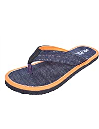 Mr.Polo Men's Orange Slippers Denim
