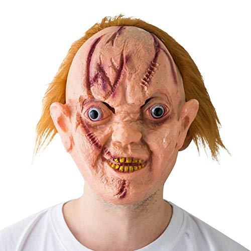 JNKDSGF HorrormaskeHalloween schreckliche Maske mit Narbe Ghoulish Gesichtsmaske Cosplay Party Requisiten Große Verwendung für Ostern Halloween Rolle PlayyParty Requisiten