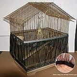 AOLVO Vogelkäfig-Abdeckung für Vogelkäfige, Netzabdeckung, dehnbar, weich, luftig, Netz, 66-132 cm, Größe S