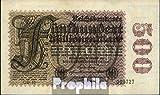 Deutsches Reich Rosenbg: 109d, Wasserzeichen Hakensterne 6stellige Kontrollnummer 1923 500 Millionen Mark (Banknoten für Sammler)