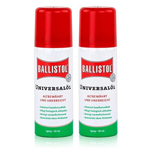 Ballistol Universalöl Spray 50ml - Rostschutz ohne Verharzen (2er Pack)