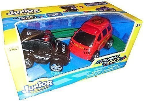 Junior Racers Push N Go Police Car and and Car Fire Truck by KNOK 71bb5b